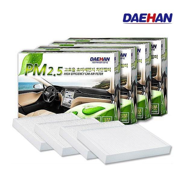 대한 PM2.5 초미세먼지 필터 4개, 쌍용 P108_ 렉스턴G4/렉스턴스포츠 (POP 179235847)
