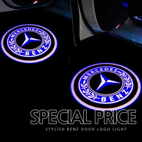 차쟁이몰 벤츠 국민 튜닝 도어라이트 A B C E GLA GLC GLE GLS LED 도어등 도어로고, C타입-오리지날, 1세트