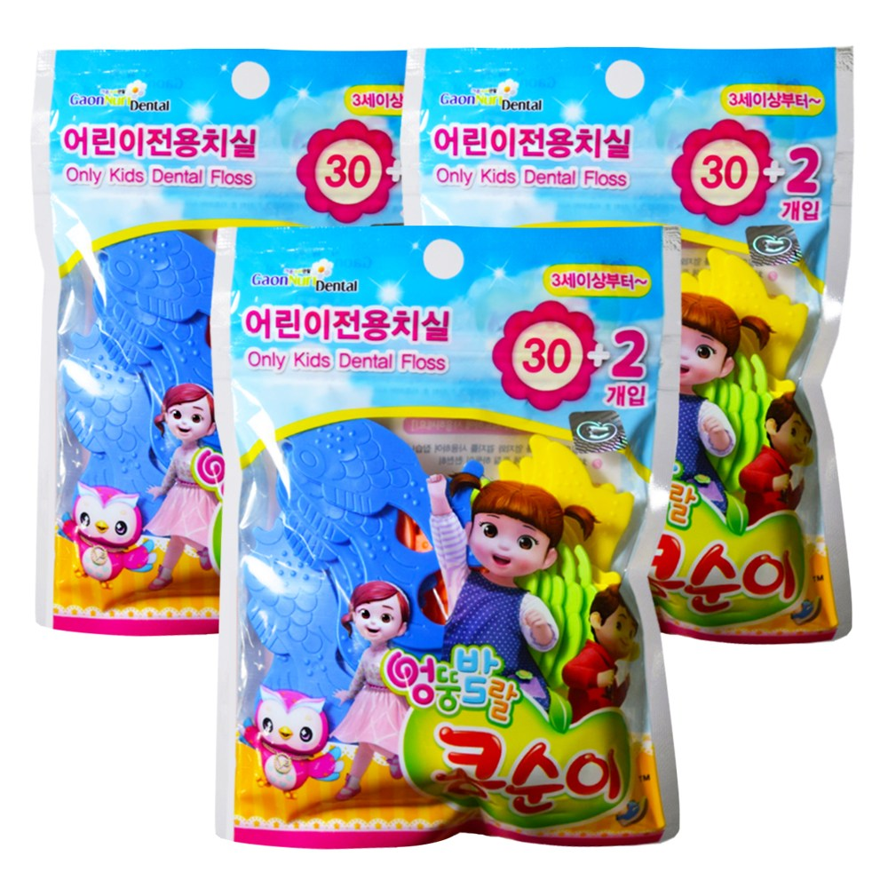 콩순이 유아 어린이 치실 32P, 3개