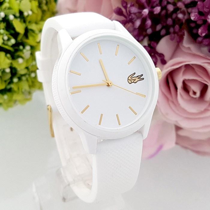 라코스테12.12 2001063 흰색 실리콘밴드 여성시계