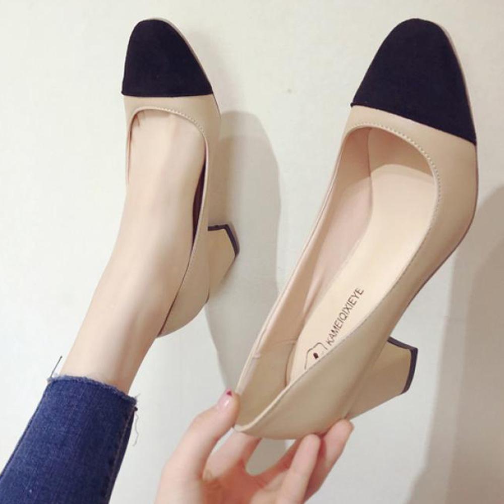 YZ 여성 하이힐 구두 펌퍼스 미들힐 신발 185 BD90bm2