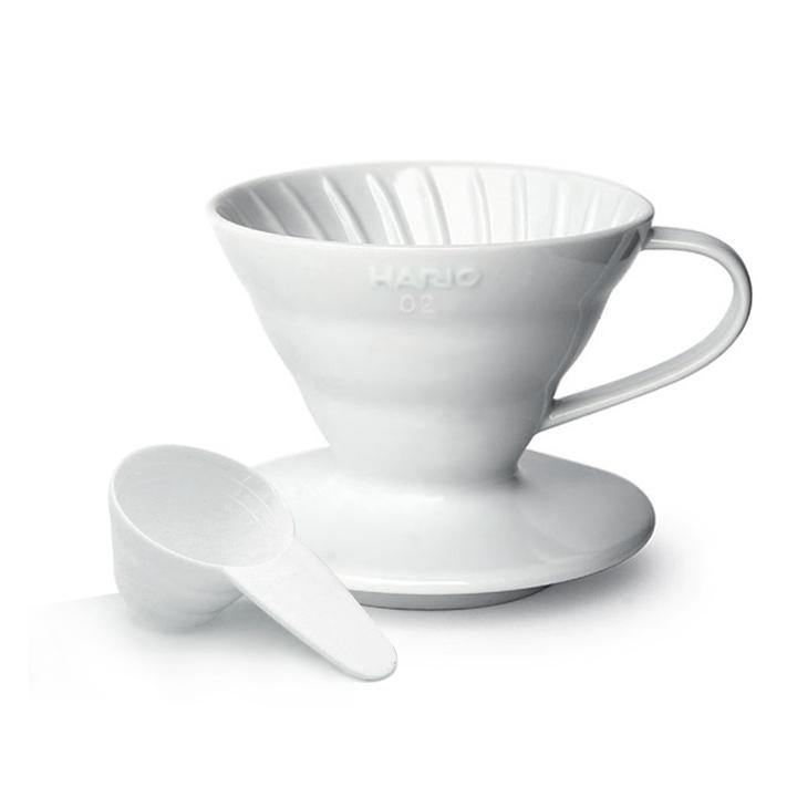 하리오 도자기 드리퍼 02 화이트 3~4인용 커피드리퍼