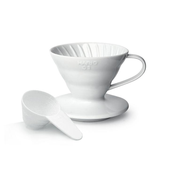 하리오 도자기 드리퍼 01 화이트 1~2인용 커피드리퍼
