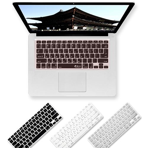 트루커버 맥북 한국어 키보드 키스킨 커버, 한국어키보드키스킨 블랙-맥북프로 논터치바 13인치(A1708), 1개