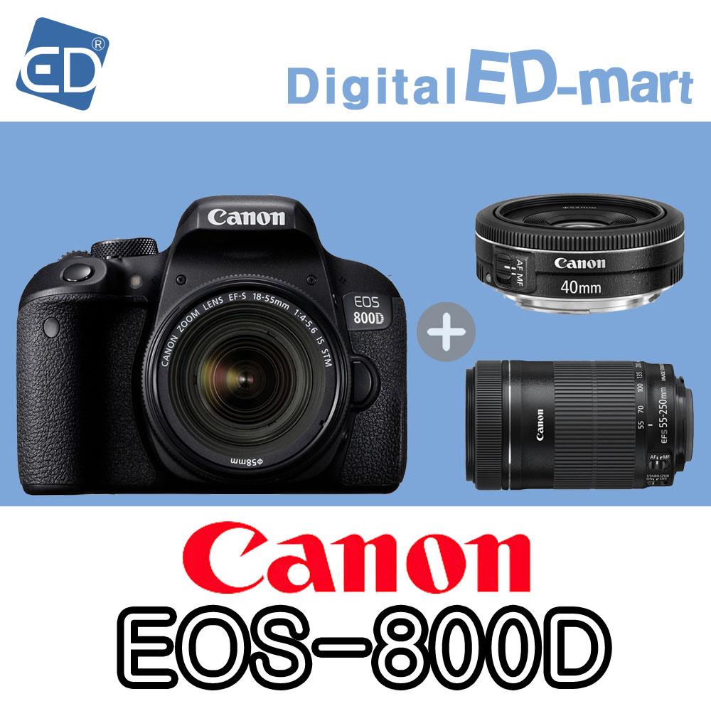 캐논 800D 18-55mm 64G 패키지, 06 캐논 EOS-800D/18-55.40mmSTM.55-250/3종64G패키지