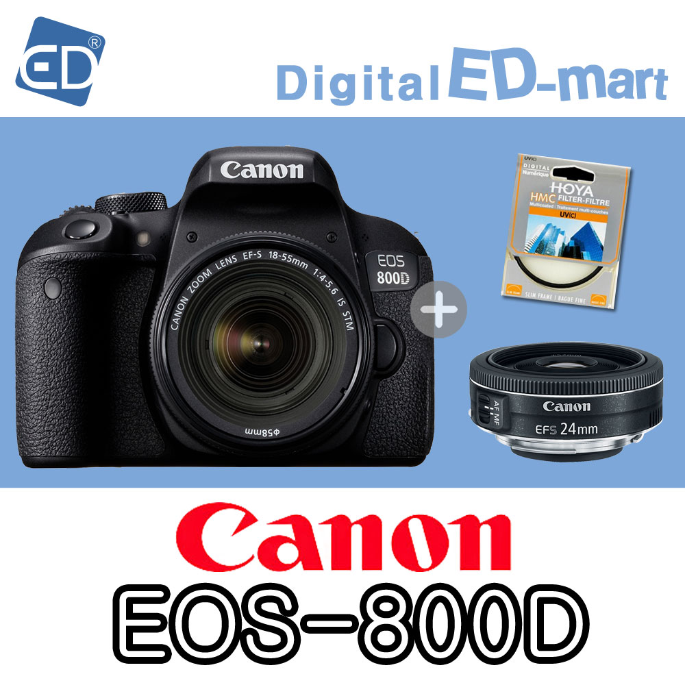 캐논 800D 18-55mm 64G 패키지, 02 캐논EOS-800D/18-55 IS STM.24mm렌즈2종64G패키지