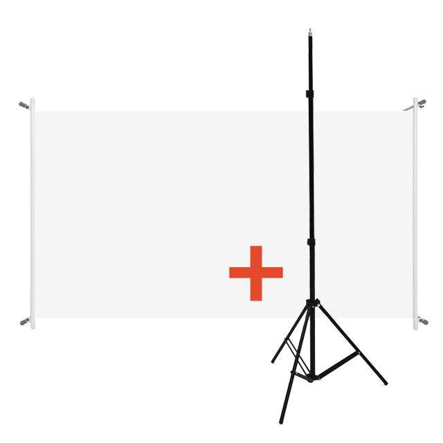 yuncine (자석없음) 휴대용 텐션스크린 크로스 삼각대 캠핑용 이동형 빔스크린, 15) 가벼운 크로스텐션 (자석없음) 와이드 60인치 + 삼각대