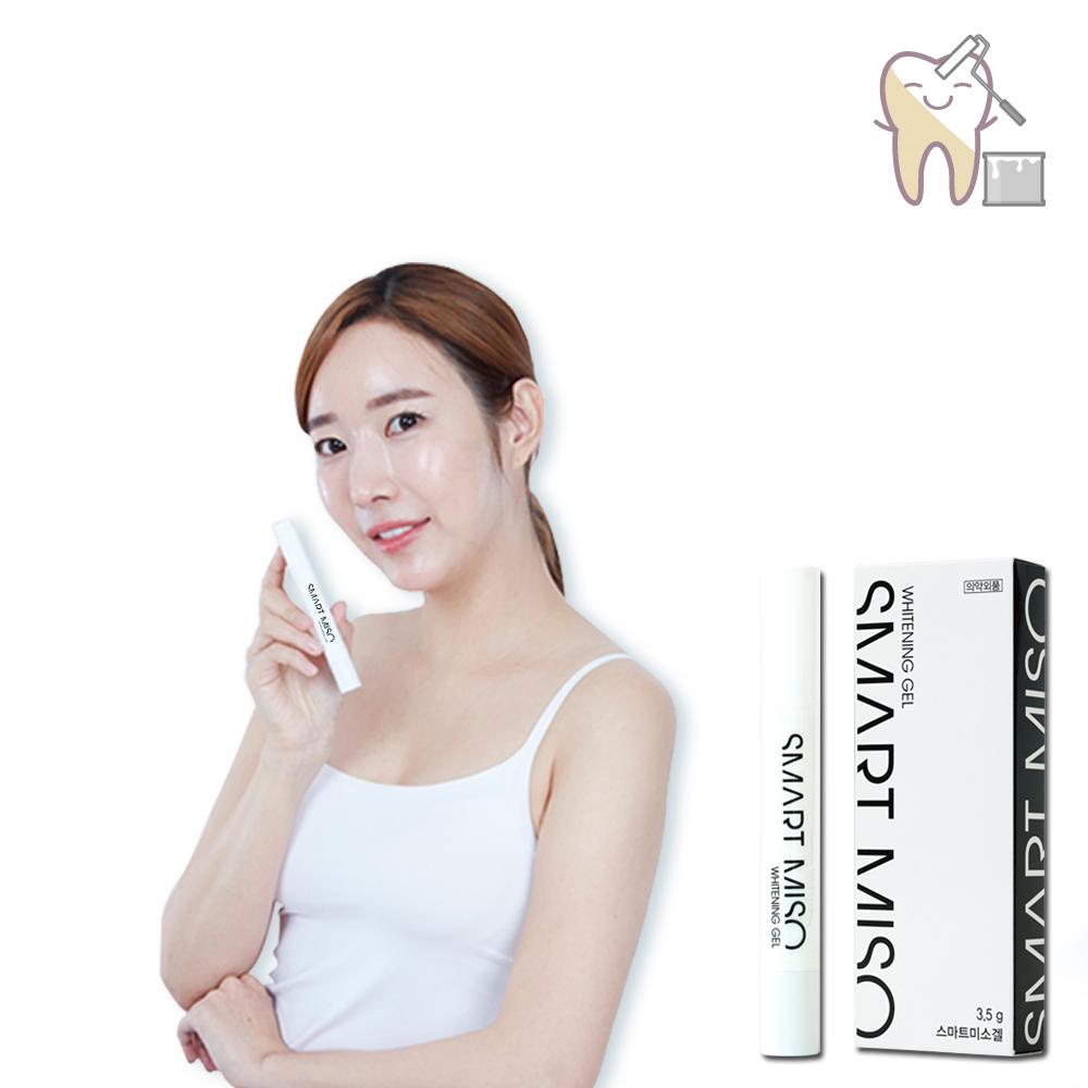 스마트 미소 연예인 하얀치아 2주 프로젝트 3세대 치아미백펜 1+1, 3.5g, 2개