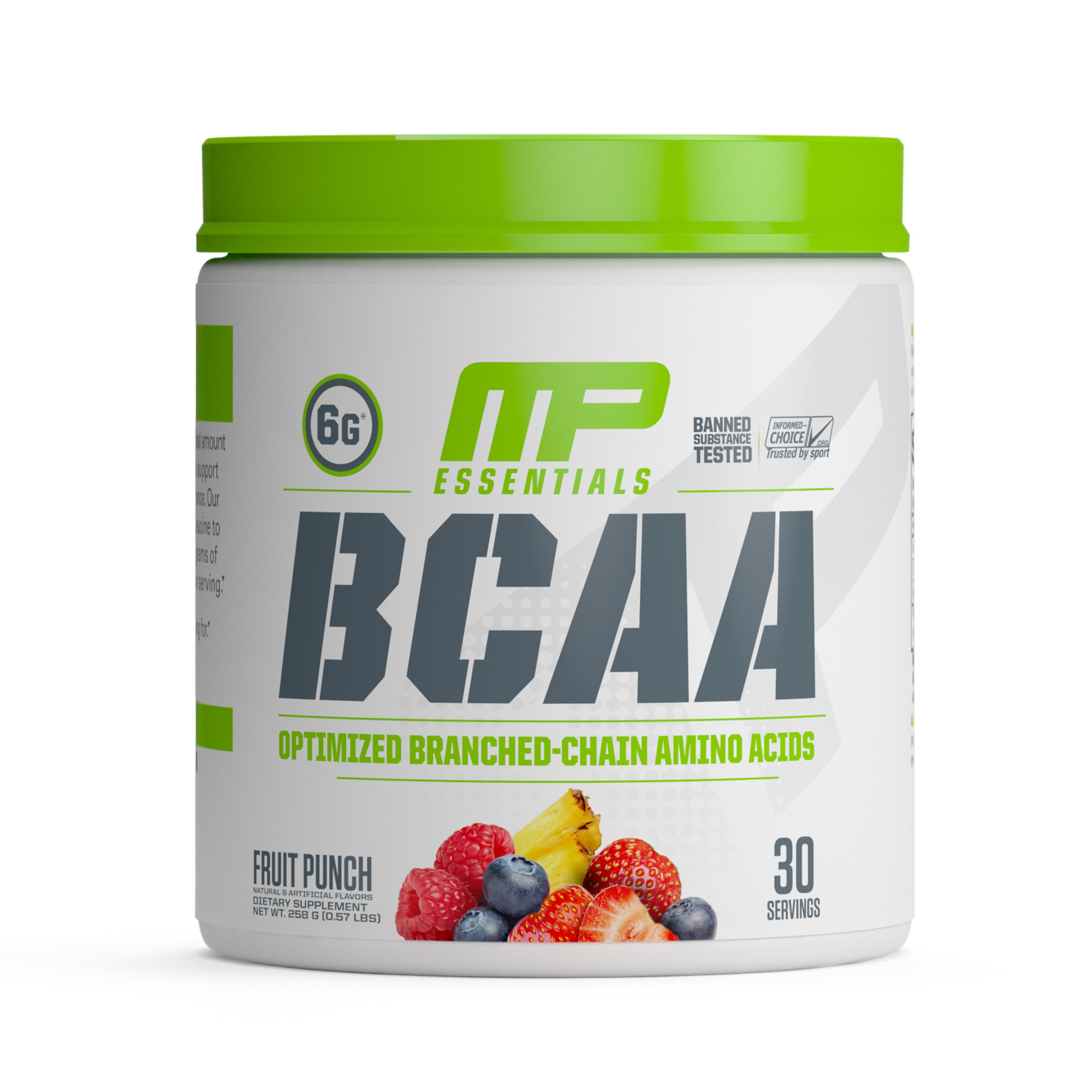 Musclepharm 에센셜 BCAA, 30회, 프루트 펀치(Fruit Punch)
