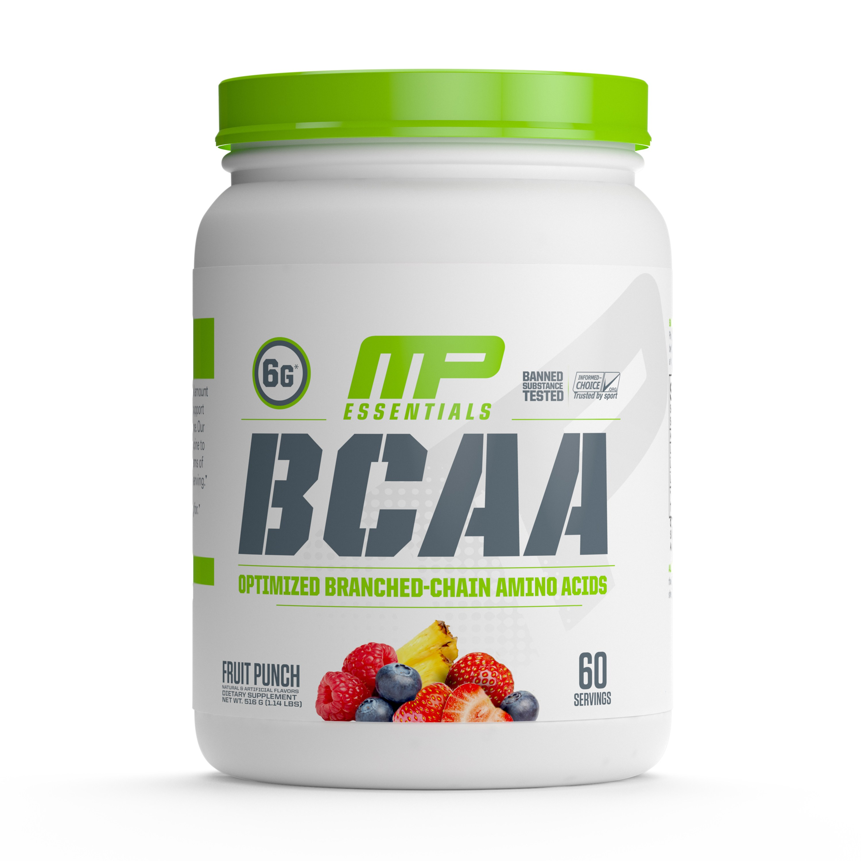 Musclepharm 에센셜 BCAA, 60회, 프루트 펀치(Fruit Punch)