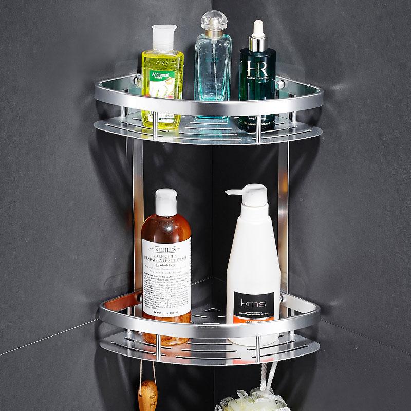 아름몰 매직후크 욕실선반 코너선반 일자선반 선반, 코너선반(2단), 1개