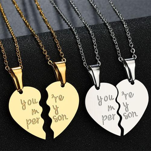 Jixi 커플 발렌타인 데이 러브목걸이 커플목걸이 우정목걸이 여자친구선물 목걸이 발렌타인데이