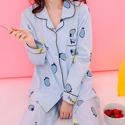 마마조이 여성 잠옷 러블리 캐릭터 파자마 세트