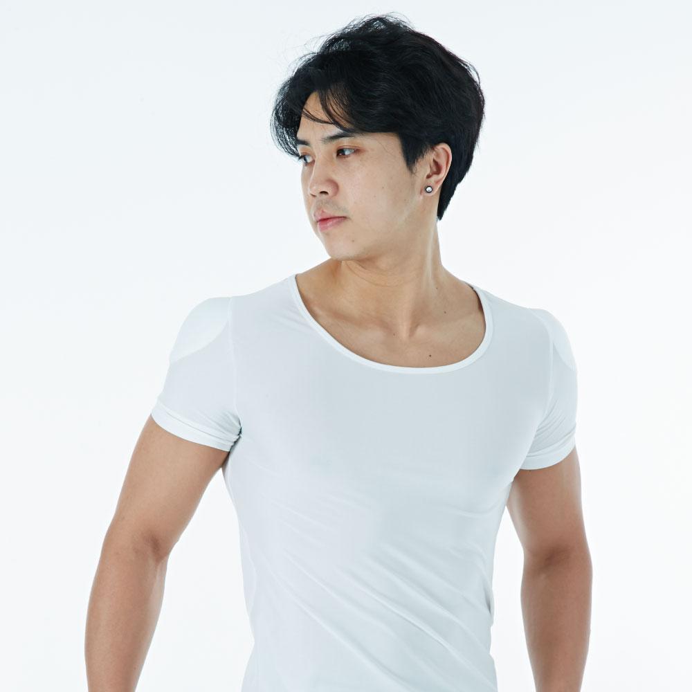 지앙카 티안나는 남자 어깨뽕 티셔츠 보정 패드