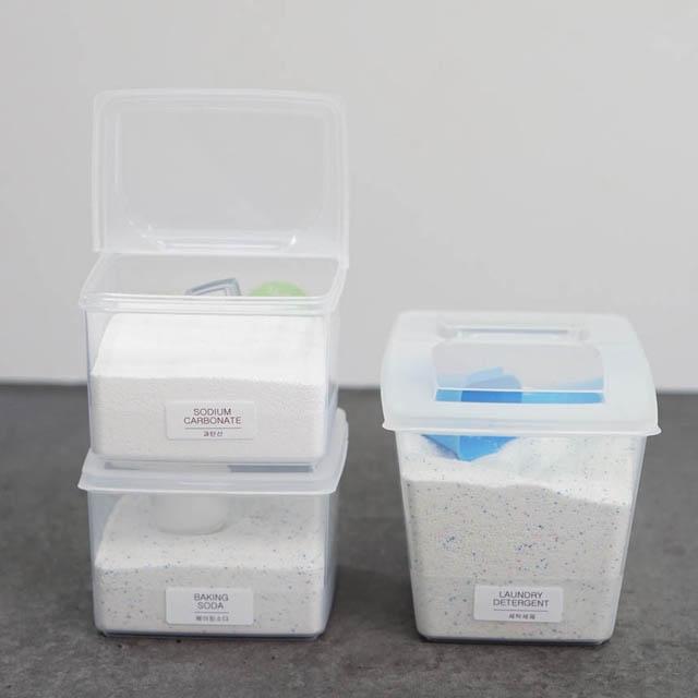 메이앤홈 가루 세제용기 세제통 소분용기, 1개, 3L