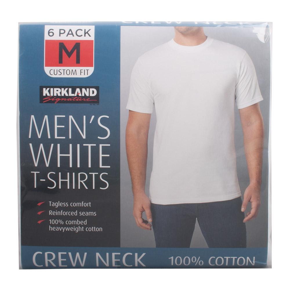 코스트코 커클랜드 남성 면 라운드 티셔츠 6매