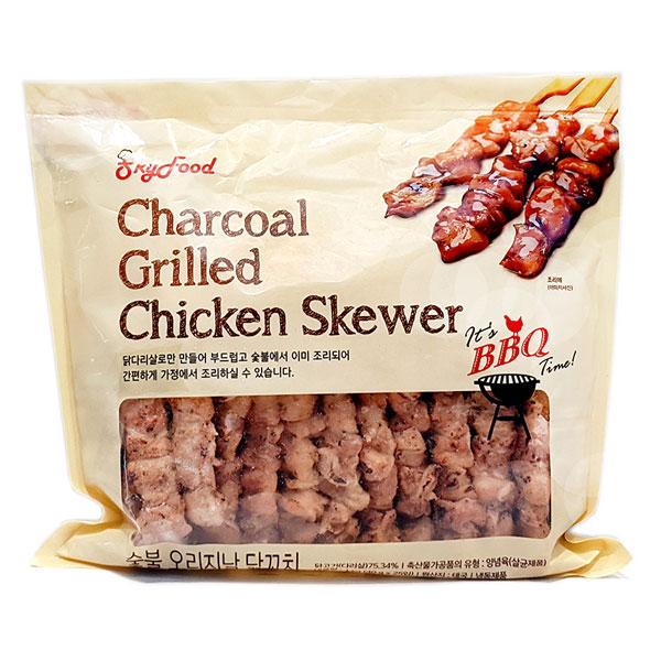스카이푸드 BBQ 숯불 오리지날 닭꼬치 1kg, 단품
