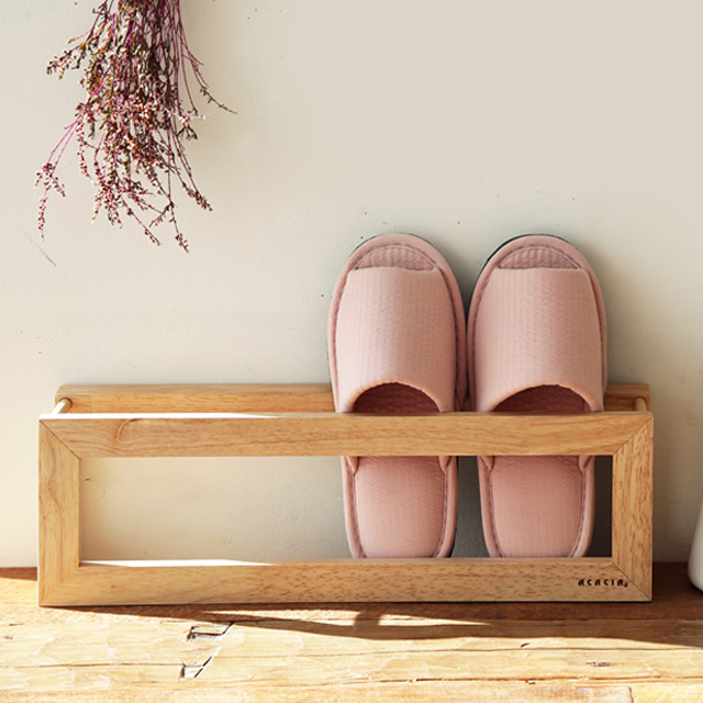 아카시아 우드 슬리퍼꽂이 실내화걸이 정리대 거치대, 단일상품