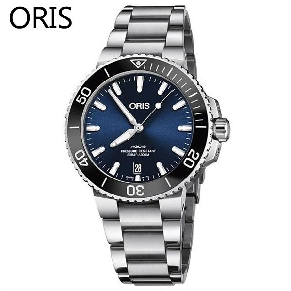 ORIS 733 7732 4135 M 오리스시계 애커스 딥블루 메탈 39.5mm 다이버