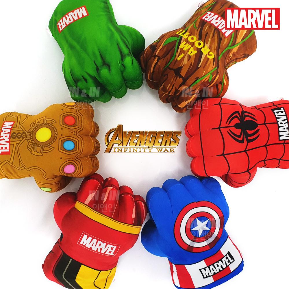마블 어벤져스 주먹인형 타노스 캡틴아메리카 스파이더맨 헐크, 마블주먹인형(타노스)