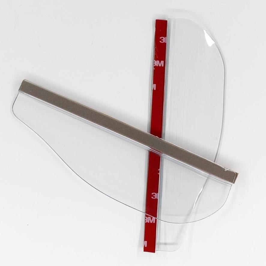 [짱카몰] 사이드미러웨더스트립 빗물커버 레인프로텍터, 투명색상