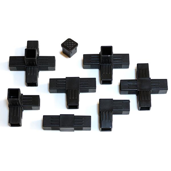 25각파이프용 플라스틱 연결부속, 05_4구 십자소켓[4A] (POP 184866349)