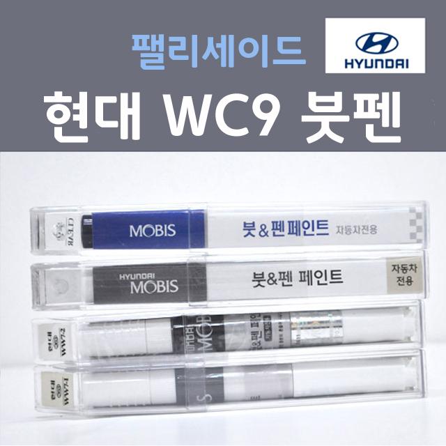 순정품 현대모비스 팰리세이드 WC9 (2개세트) 화이트크림 381 붓펜 자동차 차량용 카페인트, 2개, 8ml