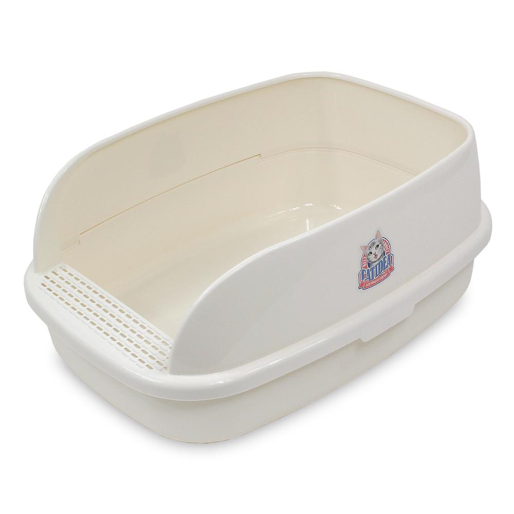 캣아이디어 빅브레드 평판 화장실(CL211) XL, 크림