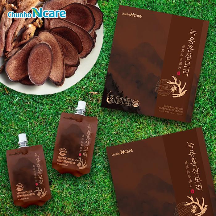 천호엔케어 녹용홍삼보력 홍삼 건강즙 추석 선물세트 30팩 70ml