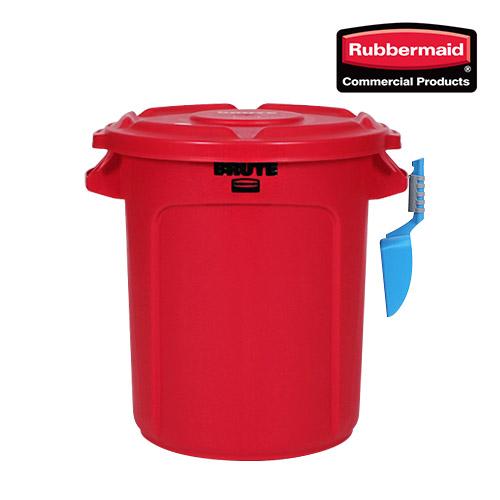 러버메이드 벤티드브루트 원두통 쌀통 사료통 30kg 다용도통, 빨강, 37L