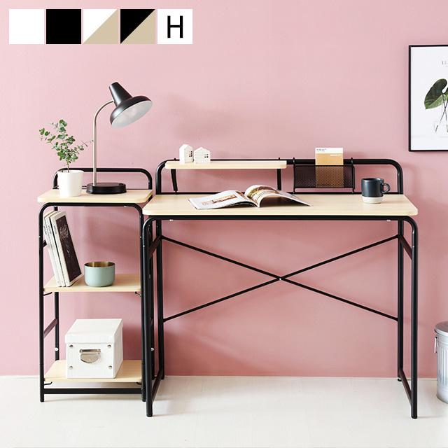 [마켓비] OLLSON 책상 + 선반 세트, 책상 화이트 + 선반 화이트
