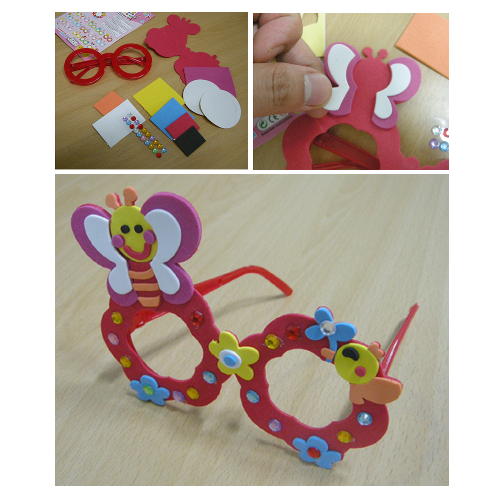 EVA 안경만들기 만들기재료 미술교재교구 어린이안경 어린이집만들기, 랜덤, 1개