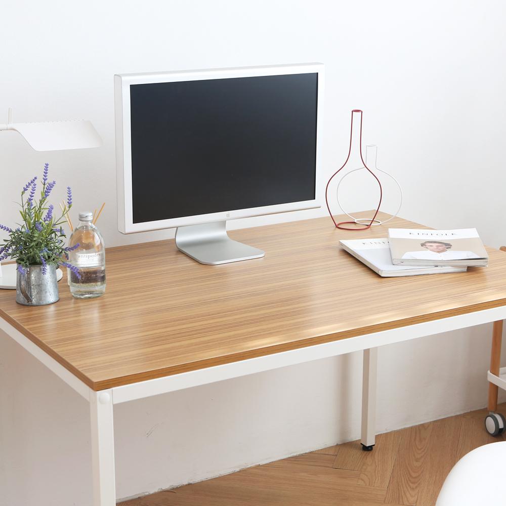 다가구 프래그마 1400 x 800 컴퓨터책상, 지브라 상판+아이보리 프레임