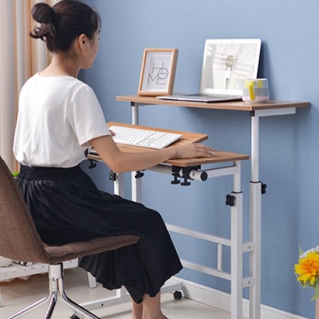 스탠딩 데스크 3단 높이 각도 조절 스탠드 서서 1인용 컴퓨터 책상, 3단80 브라운
