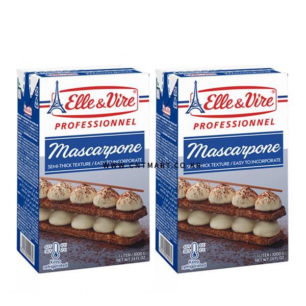 냉장엘레앤비르 마스카포네 치즈 1L가공생크림