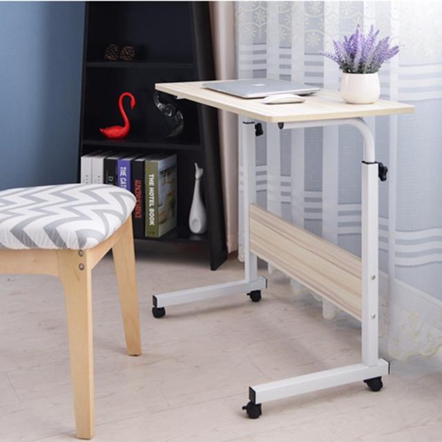 스탠딩 미니 사이드 책상 높이조절 원룸 거실 침대 밥상 노트북 테이블, 사이드60폰포켓-아이보리
