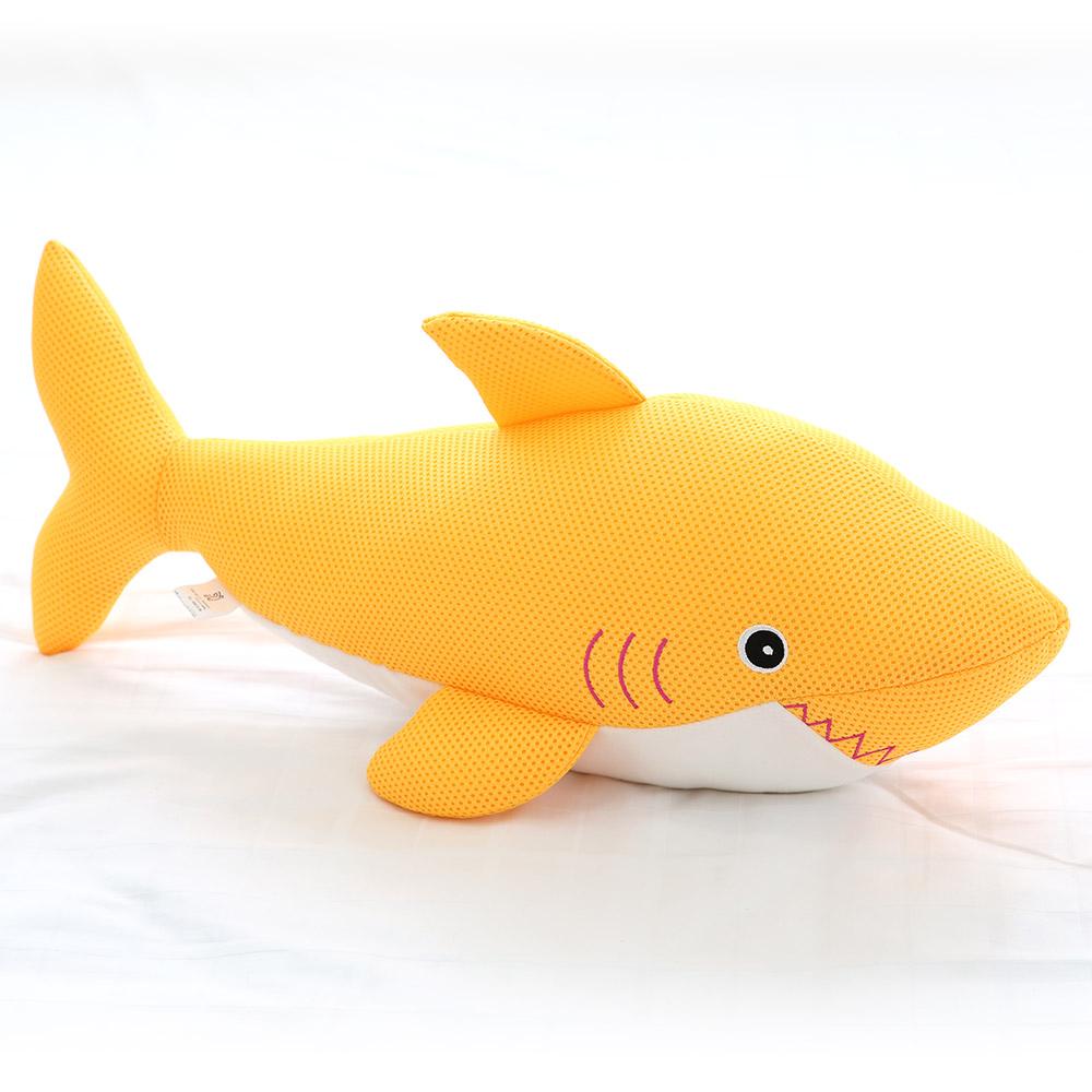 이솔홈 에어메쉬 상어인형 동물인형, 상어 인형 옐로우