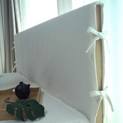 데코코 자연염색 침대 헤드커버 - 12color 헤드쿠션, 아이보리