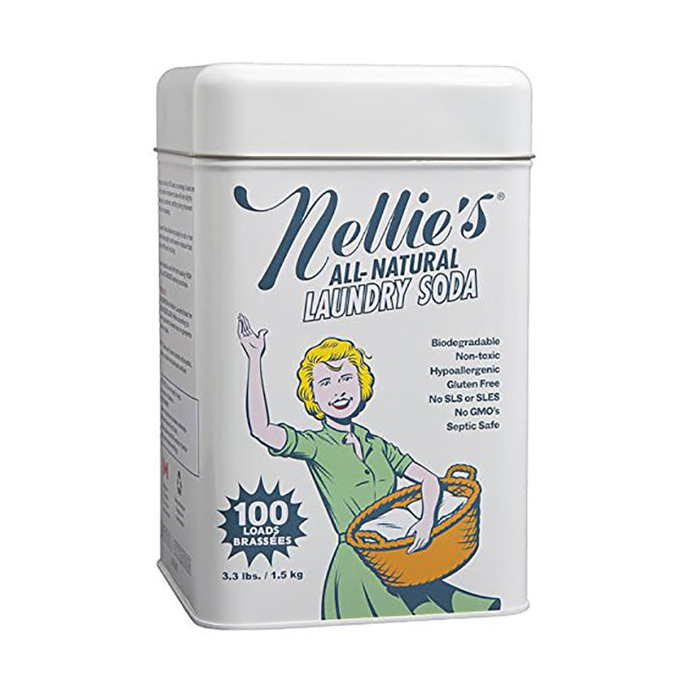 Nellies Non Toxic Vegan Powdered Laundry Detergent 넬리스 넌 톡시 비건 세제 소다 100개입 33l
