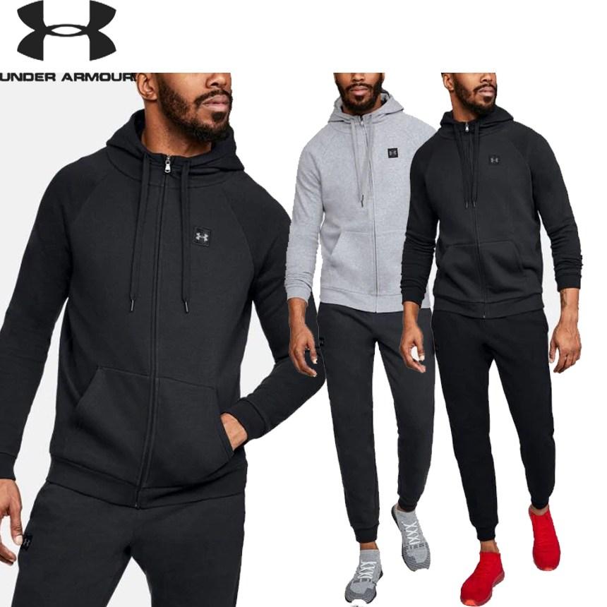 [해외] 미국정품 언더아머 UA Rival Fleece Full-Zip 남자 후리스 후드집업 및 바지