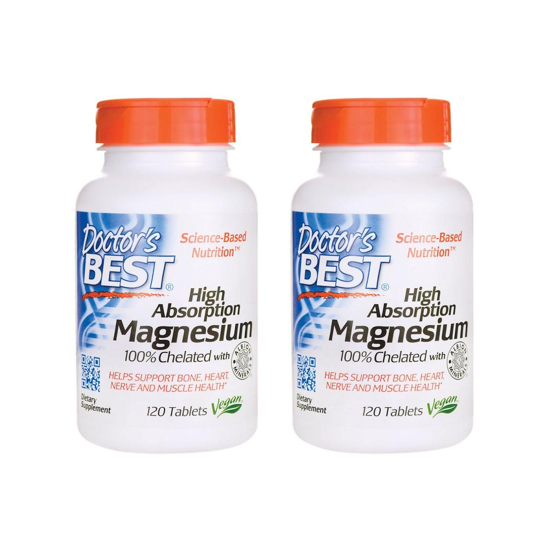 Doctors Best Magnesium 닥터스 베스트 마그네슘 120정 2팩, 1개