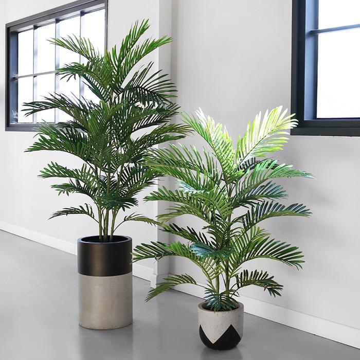 NEW 아레카 야자 인테리어 조화 나무, 60cm, 리본 추가 안함