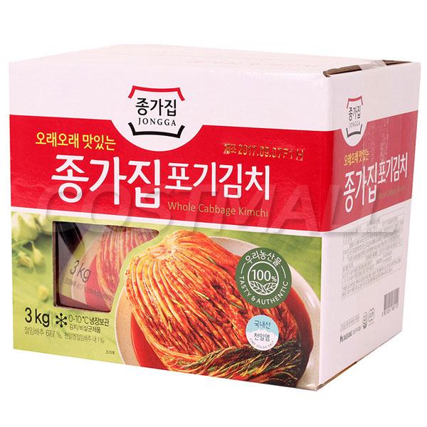 종가집 포기김치 3kg 김치 유산균 배추김치 반찬 열무(아이스박스포장발송), 1개