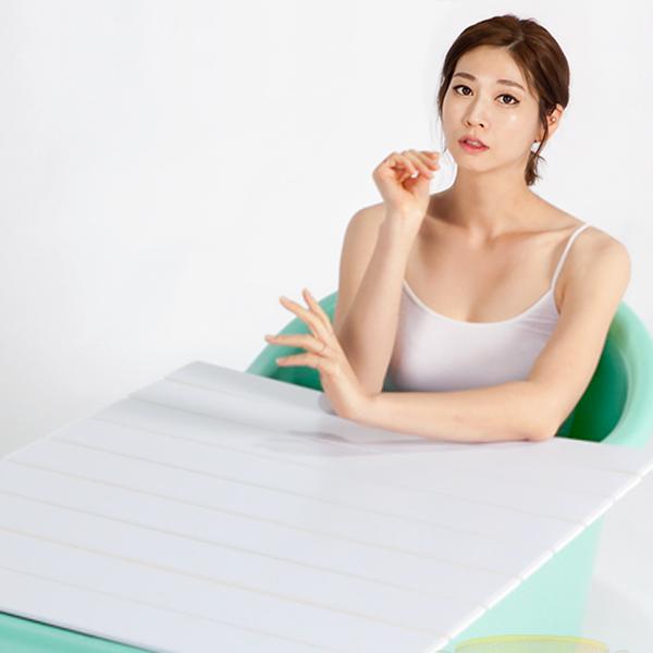 이수욕조 반신욕조+덮개세트, 민트, 1개