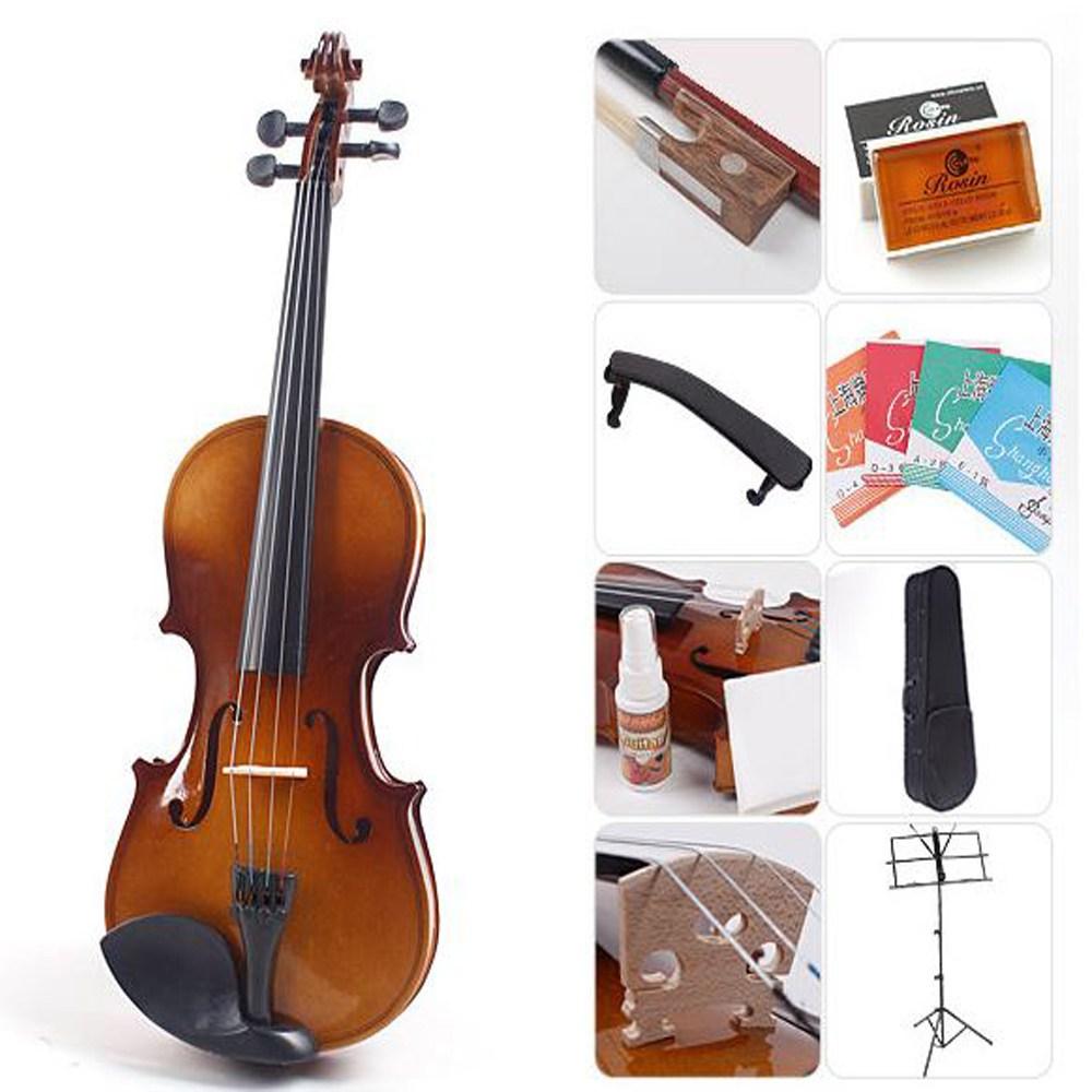바이올린 8종패키지 바이올린 뮐러악기, CN408 바이올린(3/4) 8종패키지