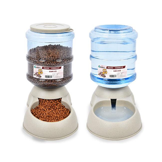 케어펫 강아지 고양이 반자동급식기 급수기 애견 물그릇 밥그릇 물병/급수기, 급식기/급수기 세트, 1개
