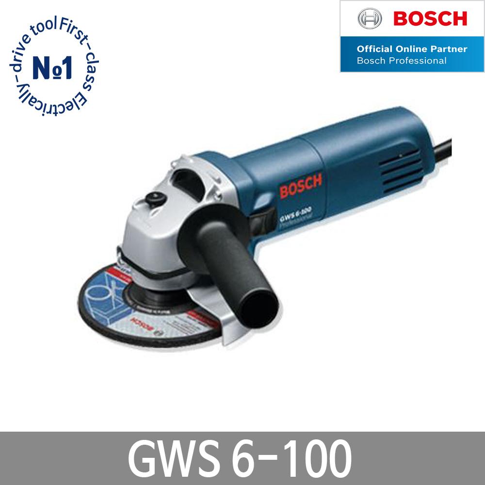 보쉬 GWS6-100 그라인더 4인치 앵글그라인더 연마절삭, 단품 (POP 1444952034)