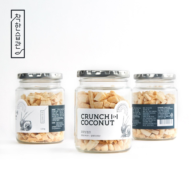 착한습관 코코넛청크, 130g, 3개
