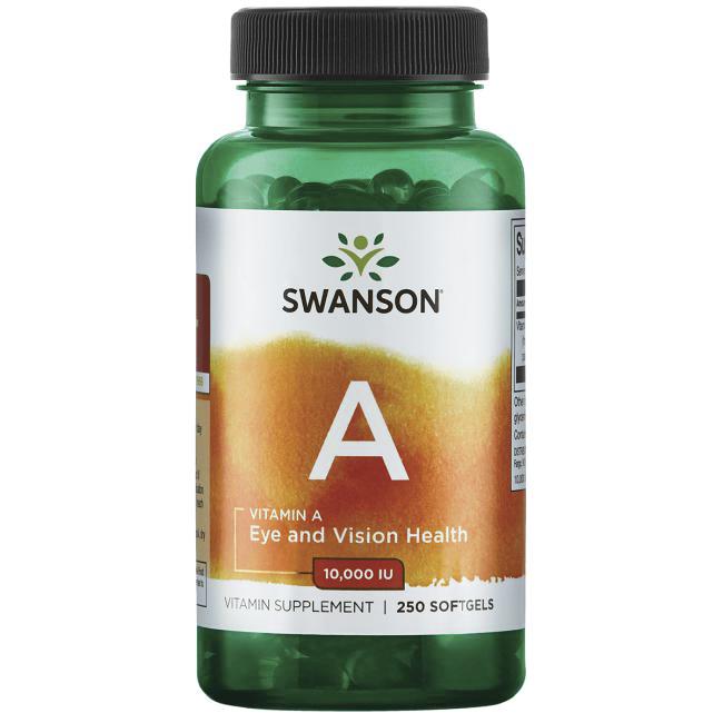 스완슨 비타민 A 10000IU 소프트젤, 250개입, 1개