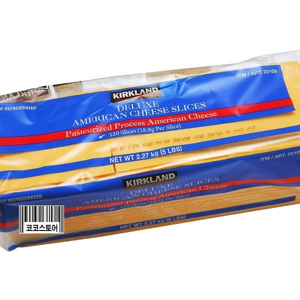 커클랜드시그니춰 코스트코 커클랜드 아메리칸 슬라이스 치즈 2.27KG (냉장식품), 1개